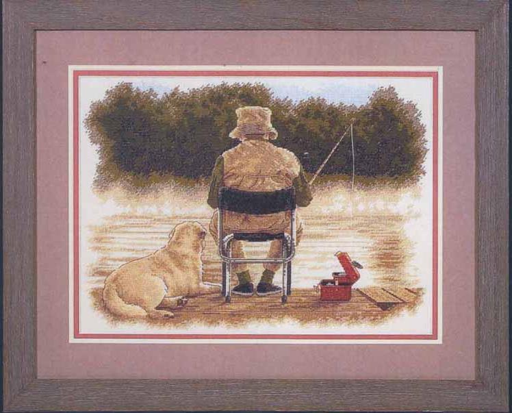 набор для вышивания рыбаки
