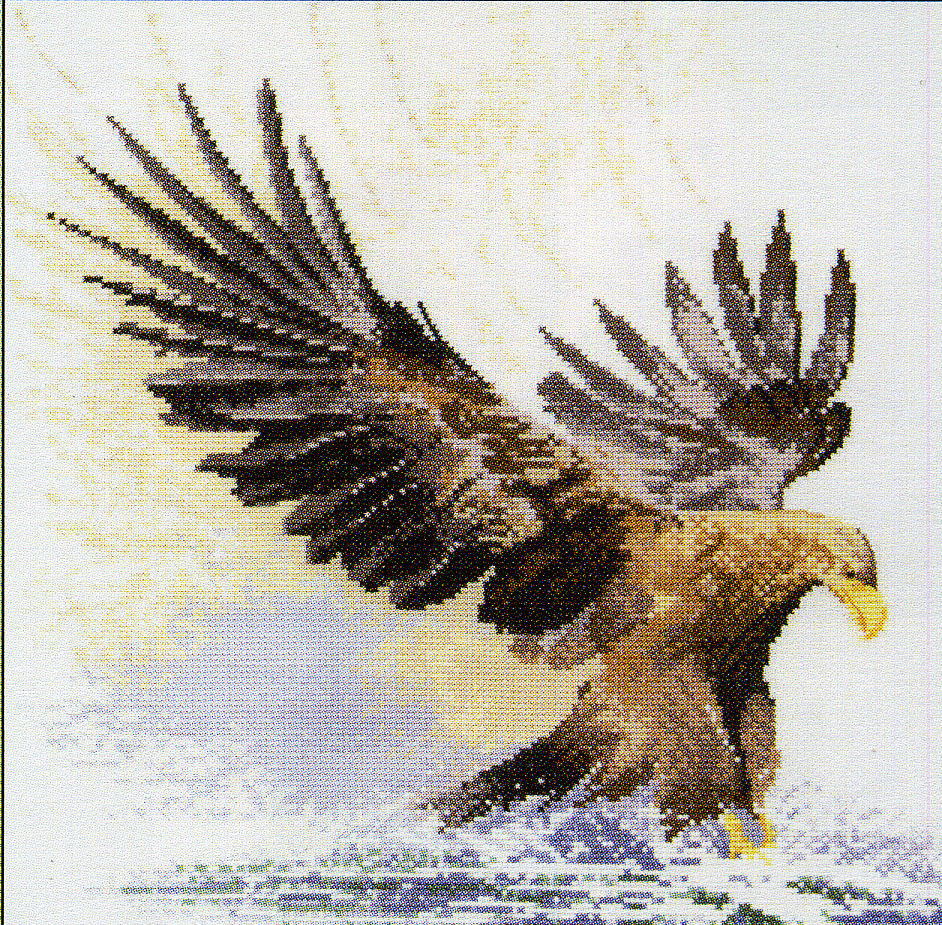 Вышивка крестом два орла 78